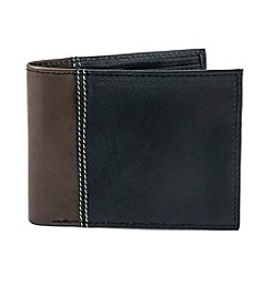 Isaac Mizrahi® Two-Tone Leather Wallet