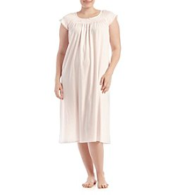 Miss Elaine® Plus Size Long Silky Sleep Gown