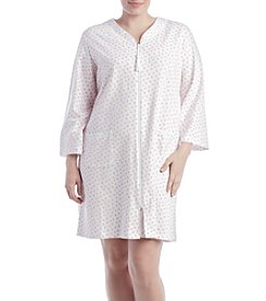 Miss Elaine® Plus Size Rose Printed Robe
