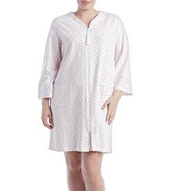 Miss Elaine® Plus Size Rose Printed Robe