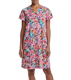 Miss Elaine® Short Floral Robe