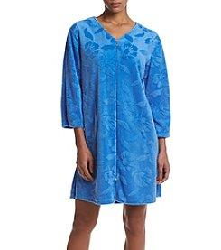 Miss Elaine® Daisy Zip Front Robe