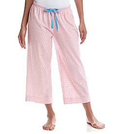 KN Karen Neuburger Geo Print Pajama Capris