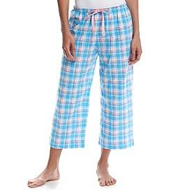 KN Karen Neuburger Plaid Pajama Capri