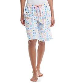 KN Karen Neuburger Butterfly Bermuda Shorts
