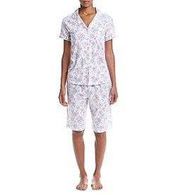 KN Karen Neuburger Floral Bermuda Pajama Set