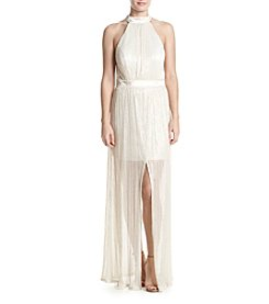 Trixxi® Pleated Shine Gown