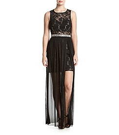 A. Byer Sequin Lace Dress