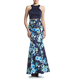 My Michelle® Floral Two-Piece Mermaid Dress