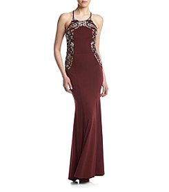 Speechless® Side Beaded Halter Dress