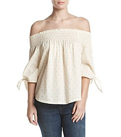 Hippie Laundry Off-Shoulder Tie Sleeve Top