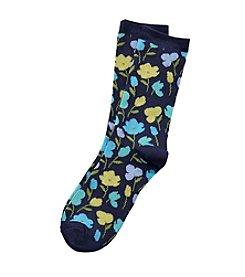 Relativity® Floral Crew Socks