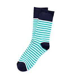 Relativity Tipped Stripe Crew Socks