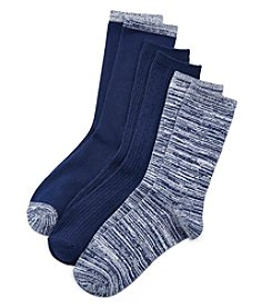 Cuddl Duds® 3-Pack Space Dyed Crew Socks