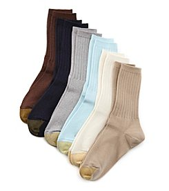 GOLD TOE® 6-Pack Ribbed Crew Socks