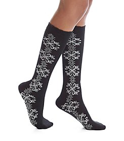 Legale® Snowflake Panel Knee Socks