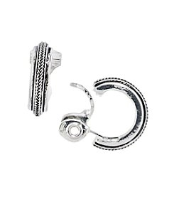Napier® Small EZ Comfort Clip Hoop Earrings