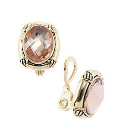 Napier® EZ Comfort Clip Button Earrings