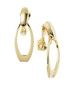 Napier® Open Drop EZ Comfort Clip Earrings