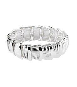 Napier® Overlap Shell Stretch Bracelet