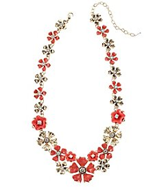 Napier® Drama Flower Collar Necklace
