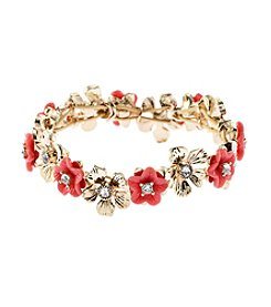 Napier® Goldtone Flower Stretch Bracelet