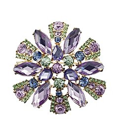 Napier® Boxed Simulated Crystal Brooch Pin