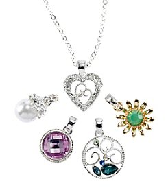 Napier® Boxed Interchangeable Pendant Necklace Set
