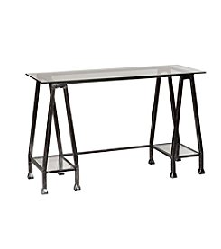 Southern Enterprises Metal/Glass A-Frame Desk