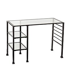 Southern Enterprises Metal/Glass Writing Desk