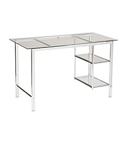 Southern Enterprises Oslo Chrome/Glass Desk