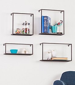 Holly & Martin™ Zyther Metal Wall Shelves 4-Piece Set