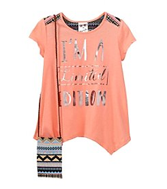 Belle du Jour Girls' 7-16 Limited Edition Short Sleeve Top With Purse