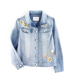 Jessica Simpson Girls' 7-16 Mini Peri Patches Jacket