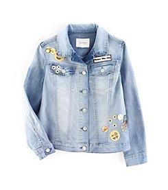 Jessica Simpson Girls' 7-16 Mini Peri Patches Jacket