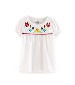 Mix & Match Girls' 2T-4T Embroidered Crew Neck Tee