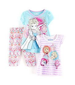 Disney® Girls' 2T-6X 3-Piece Frozen Perfect Tee And Legging Set