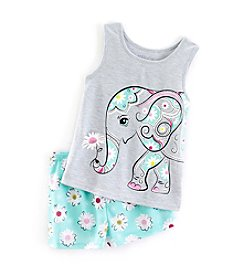 Komar Kids® Girls' 4-16 2-Piece Elephant Sleep Set