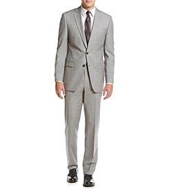 Calvin Klein Men's Sharkskin Slim Fit Suit