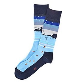 HUE® Men's Fishing Dress Socks