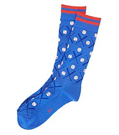 HUE® Men's Baseball Dress Socks
