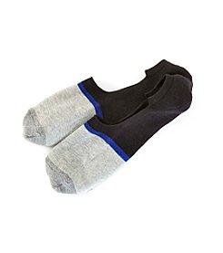 HUE® Men's Colorblock Liner Socks