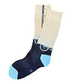 HUE® Men's Bike Dress Socks
