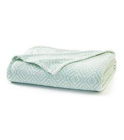 LivingQuarters Aztec Green Micro Cozy Blanket