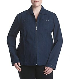 Studio Works® Plus Size Denim Sport Jacket