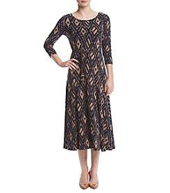 Nina Leonard® Diamond Matte Jersey Dress
