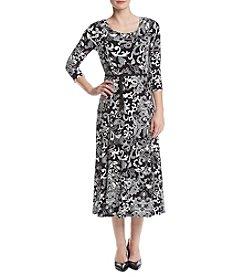 Nina Leonard® Lace Matte Jersey Dress