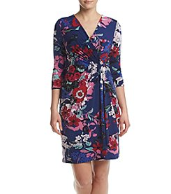 Adrianna Papell® Floral Drape Front Dress