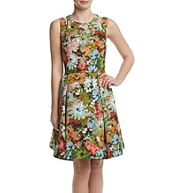 Taylor Dresses Floral Cut Out Dress