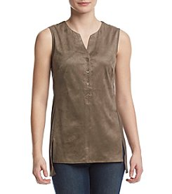 Jones New York® Faux Suede Tank
